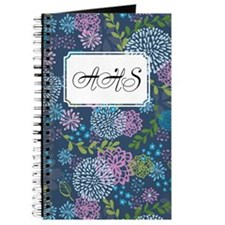 Layer Flowers Blue Journal