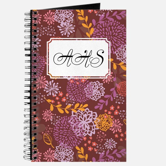 Layer Flowers Brown Journal