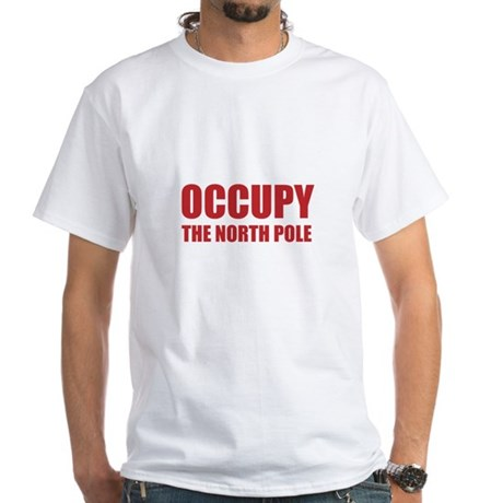 Occupy the North Pole White T-Shirt