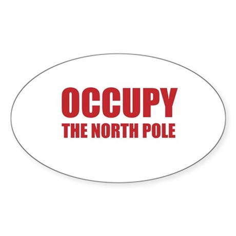 Occupy the North Pole Sticker (Oval)