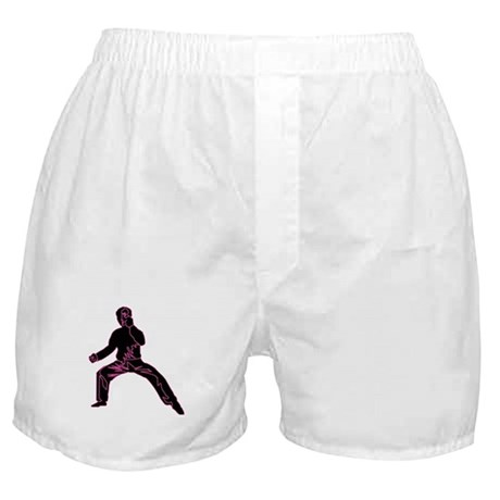 Blue Fist Pink Boxer Shorts
