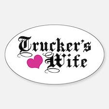 Trucker's Wife Sticker (Oval)
