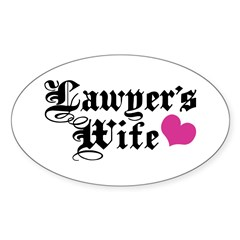 Lawyer's Wife Decal