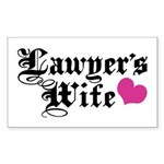 Lawyer's Wife Sticker (Rectangle)