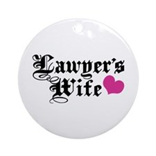 Lawyer's Wife Ornament (Round)