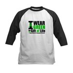 BMT I Wear Green Kids Baseball Jersey