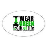 BMT I Wear Green Sticker (Oval 50 pk)