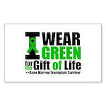 BMT I Wear Green Sticker (Rectangle 50 pk)