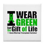 BMT I Wear Green Tile Coaster