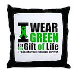 BMT I Wear Green Throw Pillow