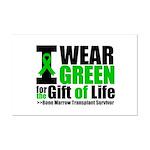 BMT I Wear Green Mini Poster Print