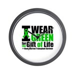 BMT I Wear Green Wall Clock