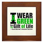BMT I Wear Green Framed Tile