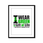 BMT I Wear Green Framed Panel Print