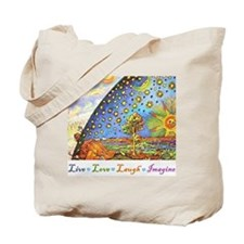 Live Love Laugh Imagine Tote Bag