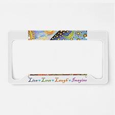 Live Love Laugh Imagine License Plate Holder