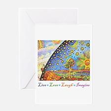 Live Love Laugh Imagine Greeting Card