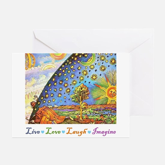 Live Love Laugh Imagine Greeting Cards (Pk of 10)