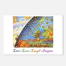 Live Love Laugh Imagine Postcards (Package of 8)