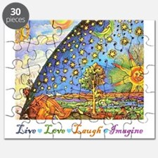 Live Love Laugh Imagine Puzzle