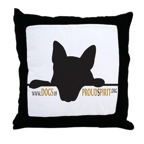 Proud Spirit Sanctuary Dogs Throw Pillow