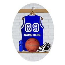 Personalized Basketball Jerse Ornament (Oval)