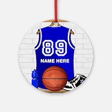 Personalized Basketball Jerse Ornament (Round)