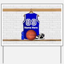 Personalized Basketball Jerse Yard Sign