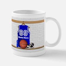 Personalized Basketball Jerse Small Mugs