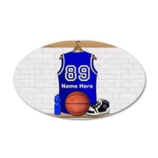 Personalized Basketball Jerse 22x14 Oval Wall Peel