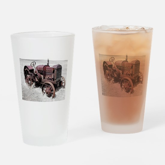 Old, Rusted Tractor Drinking Glass