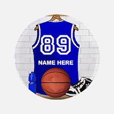 """Personalized Basketball Jerse 3.5"""" Button (100 pac"""