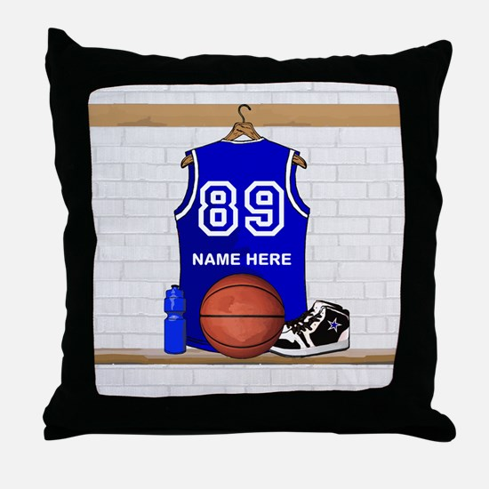Personalized Basketball Jerse Throw Pillow