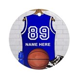 Basketball Round Ornaments