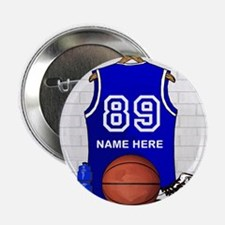"Personalized Basketball Jerse 2.25"" Button"