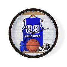 Personalized Basketball Jerse Wall Clock