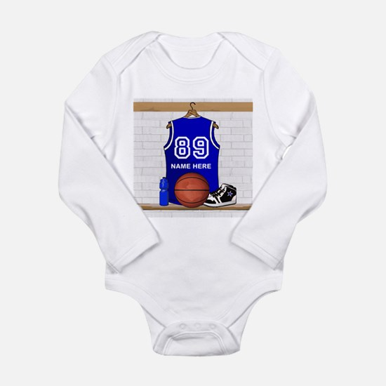 Personalized Basketball Jerse Long Sleeve Infant B