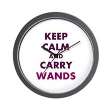Carry Wands Wall Clock
