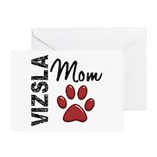 Vizsla Mom 2 Greeting Card