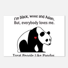 Treat People Like Pandas Postcards (Package of 8)