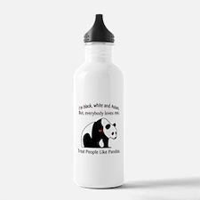 Treat People Like Pandas Water Bottle