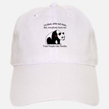 Treat People Like Pandas Baseball Baseball Cap