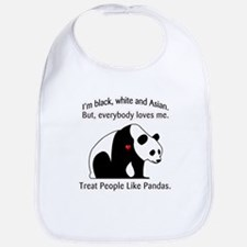 Treat People Like Pandas Bib