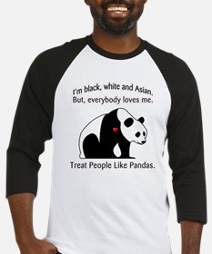 Treat People Like Pandas Baseball Jersey