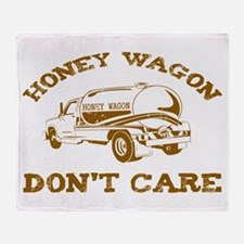 Honey Wagon Don't Care Throw Blanket