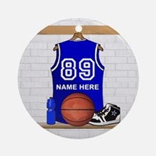 Personalized Basketball Jerse Ornament (Round)