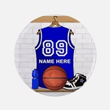 "Personalized Basketball Jerse 3.5"" Button"