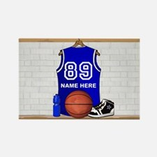 Personalized Basketball Jerse Rectangle Magnet (10
