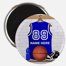 Personalized Basketball Jerse Magnet