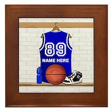 Personalized Basketball Jerse Framed Tile